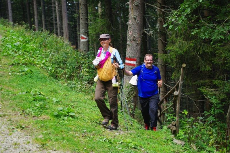 Ilse und Christian mit juengster Teilnehmerin Marie (4 Monate)