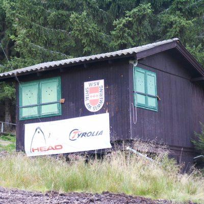 Zielhaus Rennstrecke Schieferwiese - 02.10.2002 (errichtet 1974)